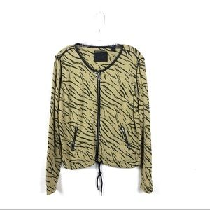 Maison Scotch Animal Print Light Cotton Jacket